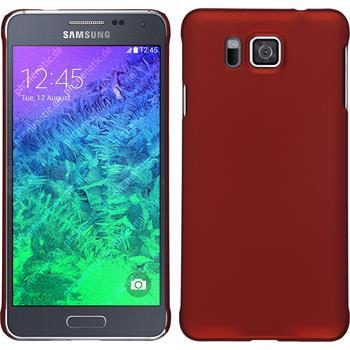 Hardcase Galaxy Alpha gummiert rot + 2 Schutzfolien
