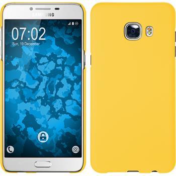 Hardcase Galaxy C5 gummiert gelb