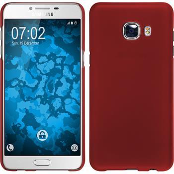 Hardcase Galaxy C5 gummiert rot