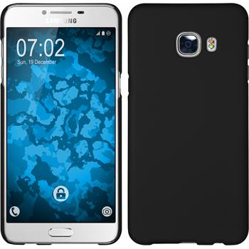 Hardcase Galaxy C5 gummiert schwarz