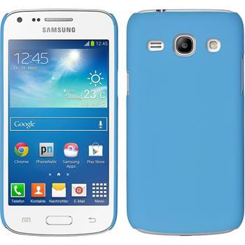 Hardcase Galaxy Core Plus gummiert hellblau + 2 Schutzfolien