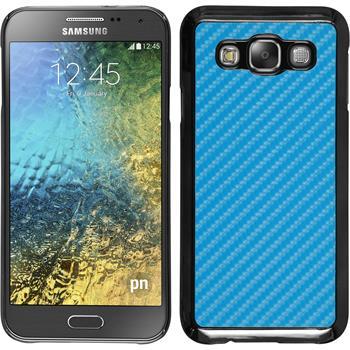 Hardcase für Samsung Galaxy E5 Carbonoptik blau
