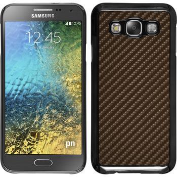 Hardcase Galaxy E5 Carbonoptik bronze