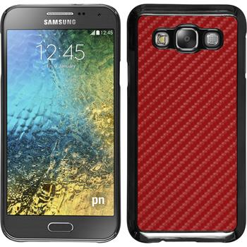 Hardcase für Samsung Galaxy E5 Carbonoptik rot
