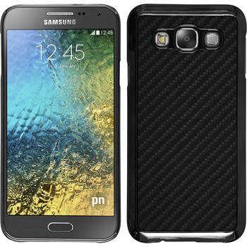 Hardcase für Samsung Galaxy E5 Carbonoptik schwarz