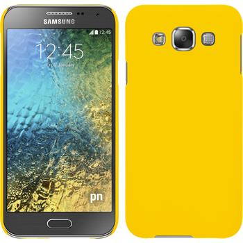 Hardcase for Samsung Galaxy E5 rubberized yellow