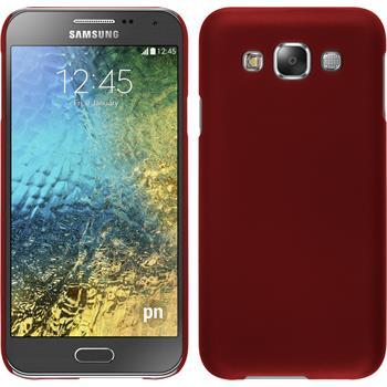 Hardcase Galaxy E5 gummiert rot