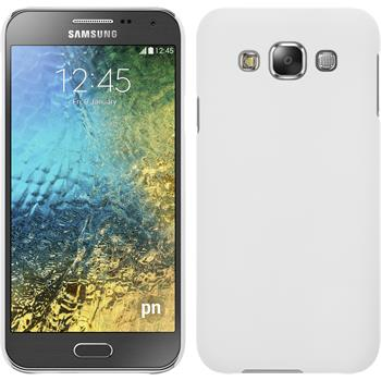 Hardcase Galaxy E5 gummiert weiß + 2 Schutzfolien