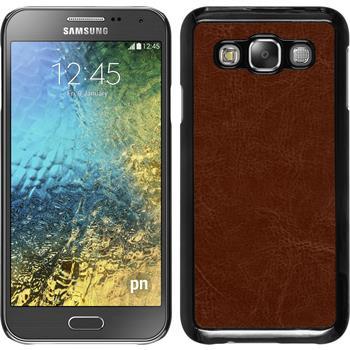 Hardcase Galaxy E5 Lederoptik braun