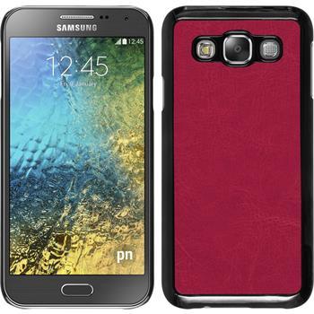 Hardcase Galaxy E5 Lederoptik pink
