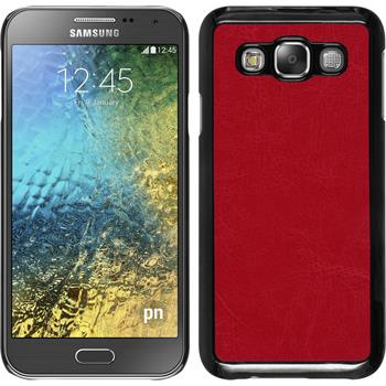 Hardcase for Samsung Galaxy E5 leather optics red