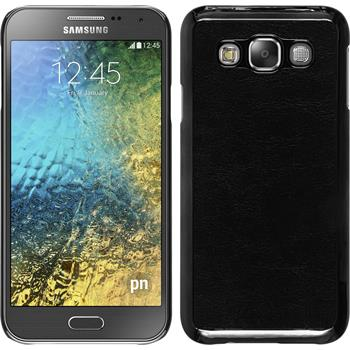 Hardcase für Samsung Galaxy E5 Lederoptik schwarz