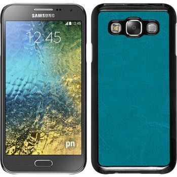 Hardcase for Samsung Galaxy E5 leather optics turquoise