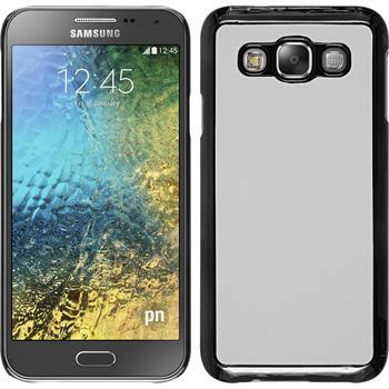 Hardcase for Samsung Galaxy E5 leather optics white