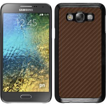 Hardcase Galaxy E7 Carbonoptik bronze