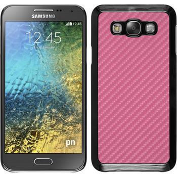 Hardcase Galaxy E7 Carbonoptik pink
