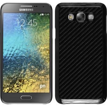 Hardcase für Samsung Galaxy E7 Carbonoptik schwarz