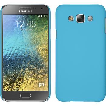 Hardcase Galaxy E7 gummiert hellblau