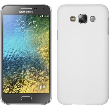 Hardcase für Samsung Galaxy E7 gummiert weiß