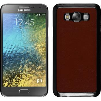 Hardcase Galaxy E7 Lederoptik braun