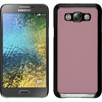Hardcase Galaxy E7 Lederoptik rosa