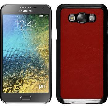 Hardcase Galaxy E7 Lederoptik rot