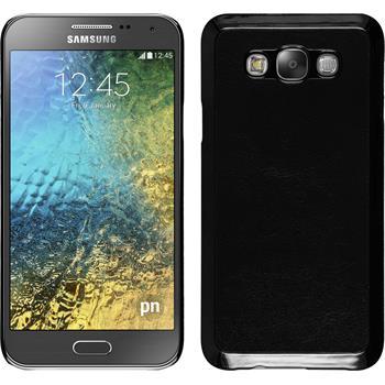 Hardcase Galaxy E7 Lederoptik schwarz