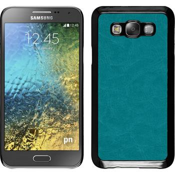 Hardcase für Samsung Galaxy E7 Lederoptik türkis