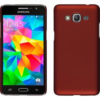 Hardcase für Samsung Galaxy Grand Prime gummiert rot