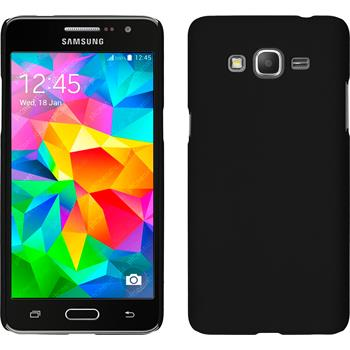 Hardcase für Samsung Galaxy Grand Prime gummiert schwarz