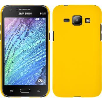 Hardcase Galaxy J1 (J100 2015) gummiert gelb