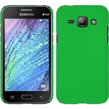Hardcase Galaxy J1 (J100 2015) gummiert grün