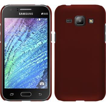 Hardcase Galaxy J1 (J100 2015) gummiert rot