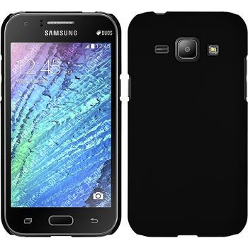 Hardcase Galaxy J1 (J100 2015) gummiert schwarz