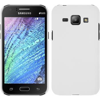 Hardcase Galaxy J1 (J100 2015) gummiert weiß