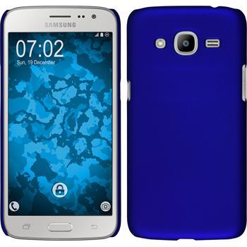 Hardcase Galaxy J2 (2016) (J210) gummiert blau Case
