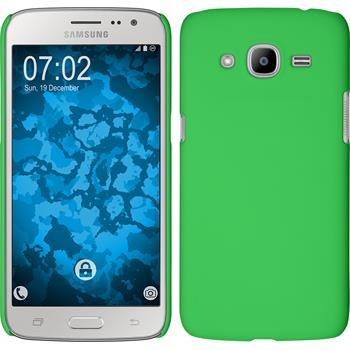 Hardcase für Samsung Galaxy J2 (2016) gummiert grün