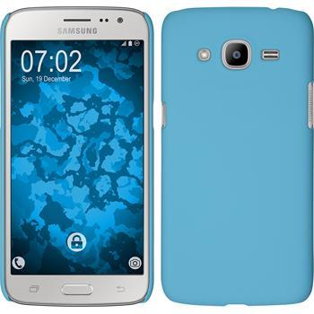 Hardcase Galaxy J2 (2016) (J210) gummiert hellblau