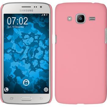 Hardcase Galaxy J2 (2016) (J210) gummiert rosa