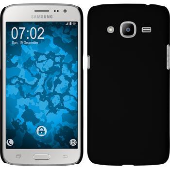 Hardcase Galaxy J2 (2016) (J210) gummiert schwarz