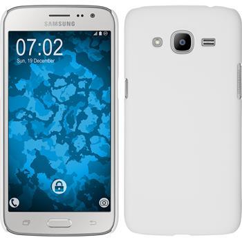 Hardcase Galaxy J2 (2016) (J210) gummiert weiß