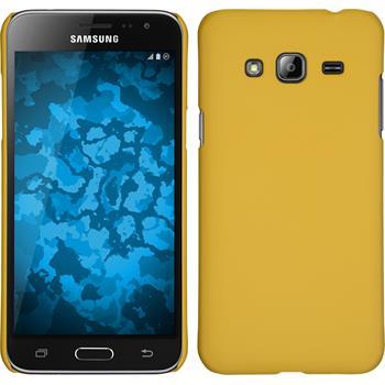 Hardcase Galaxy J3 gummiert gelb