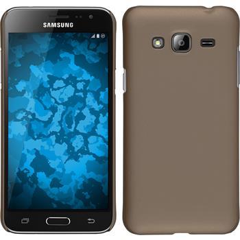 Hardcase für Samsung Galaxy J3 gummiert gold