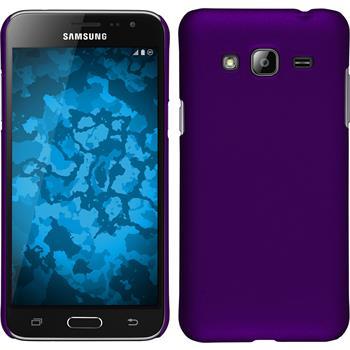 Hardcase Galaxy J3 gummiert lila