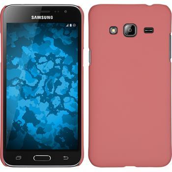Hardcase Galaxy J3 gummiert rosa
