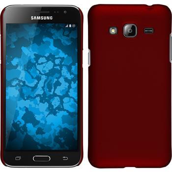 Hardcase Galaxy J3 gummiert rot
