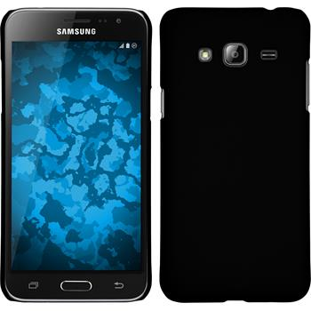 Hardcase Galaxy J3 gummiert schwarz