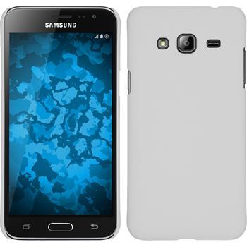 Hardcase für Samsung Galaxy J3 gummiert weiß