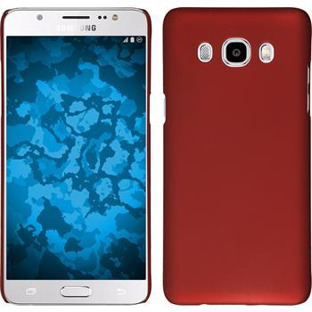 Hardcase Galaxy J5 (2016) J510 gummiert rot + 2 Schutzfolien