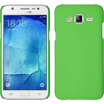 Hardcase Galaxy J5 (2015 - J500) gummiert grün + 2 Schutzfolien